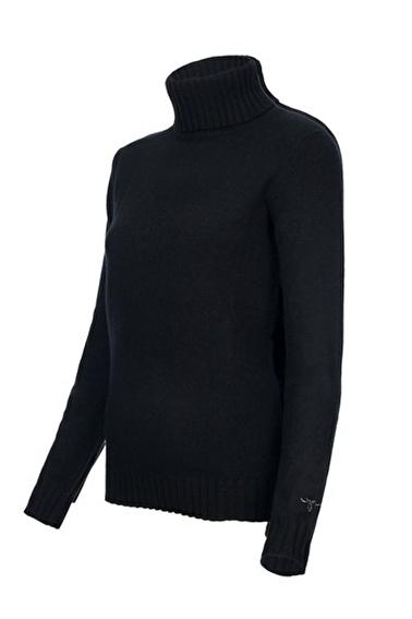 Silk and Cashmere Kazak Siyah